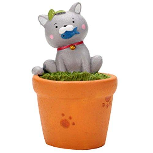 Belle Glutton Cat Décorations de table Mini Resin Flower Pot