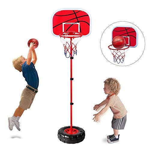Toddler Basketball Hoop Stand Wall 2-in-1 Basketball Set...