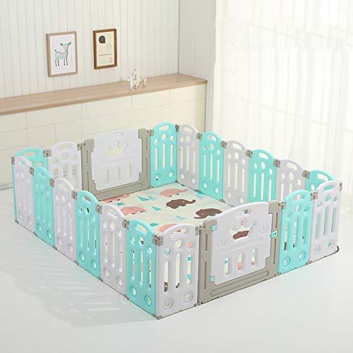 LXDDP Parc de sécurité pour bébé - Centre d'activités pour bébés et Enfants Centre Jeu Pliable et Portable pour bébés - Séparateur pièces Classique Multicolore pour intérieur intérieur et extérieur