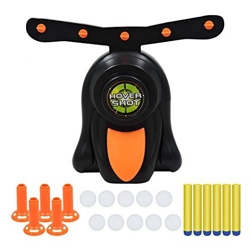 HONGCI Juego de juego de disparo electrónico de diana flotante, juego de pistola de dardos de espuma para niños, juego de dardos flotantes divertido, juego eléctrico para niños y niñas Nerf