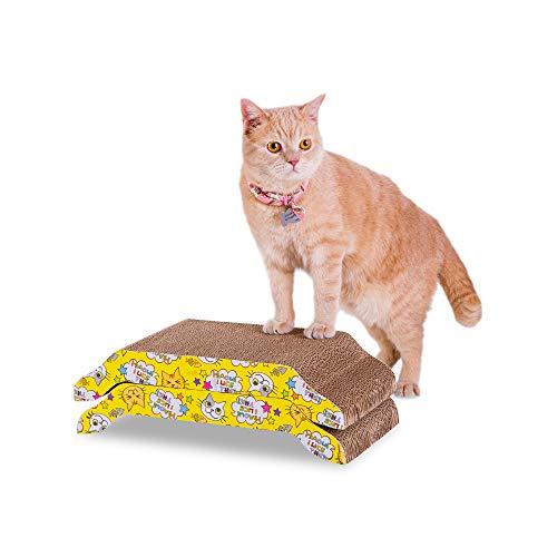 PETTOM 2 PCS Tiragraffi per Gatti Cartone Ondulato per Animali Domestici