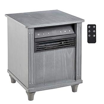 Amazon Basics Cabinet Style Space Heater Grey Wood Grain Finish 1500W