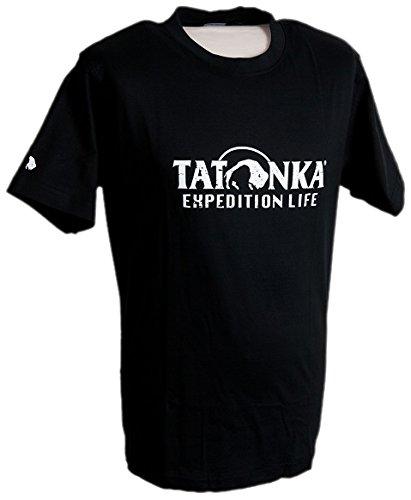 Tatonka T-Shirt pour Homme en Coton Noir Noir XL