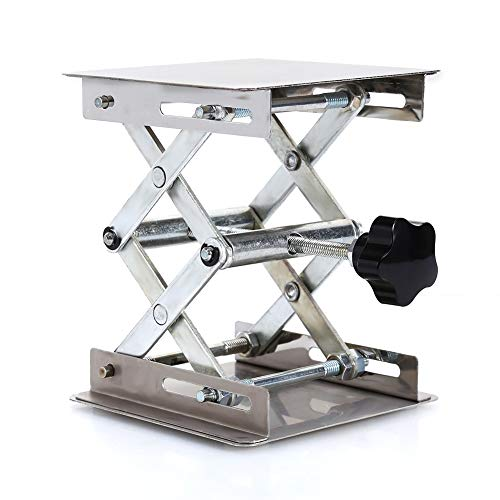 Plataformas elevadoras de laboratorio Soporte para bastidores Tijera Acero inoxidable, 100X100mm