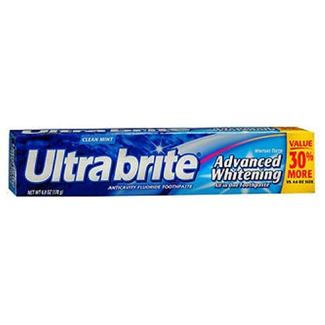 論争的民主党複数海外直送品Colgate Colgate Ultra Brite Advanced Whitening Fluoride Toothpaste, 6 oz (Pack of 3)