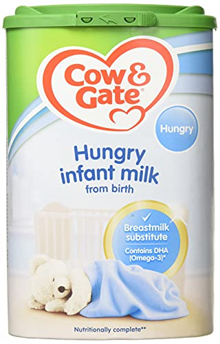 Cow & Gate Hungry Baby Milk Powder Formula, from Birth, 800g (Pack of 6)
