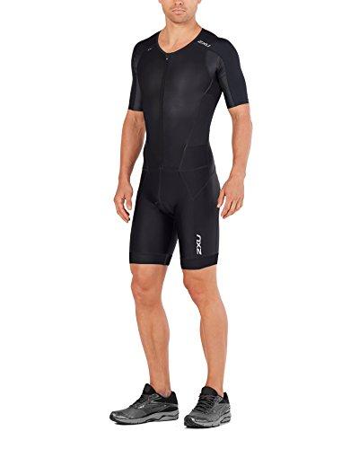 2XU Herren Trisuit Perform Full Zip Ärmel, Herren, schwarz / schwarz, X-Small
