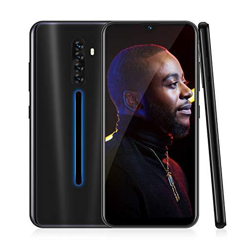 4G Smartphone Ohne Vertrag,XGODY Note8 6.26 Zoll qHD Android 9.0 Wassertropfen Bildschirm Handy,8MP+5MP Dual Kamera Dual SIM-frei Entriegelt Mobilephone,Facial Freigeschaltet,16GB ROM(Schwarz)