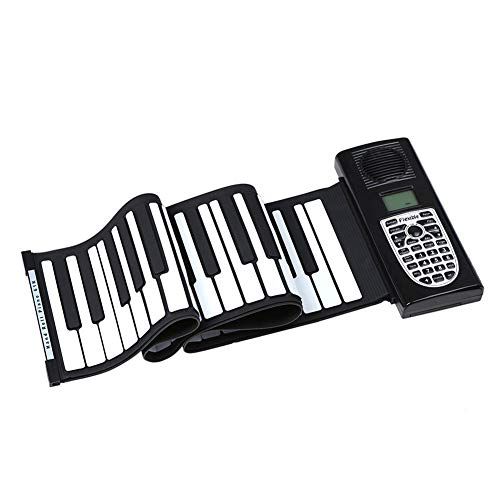 New MRXUE Roll Up Piano,Piano Portable Folding USB Powered 61-Key Hand Roll Electronic Piano,for Beg...
