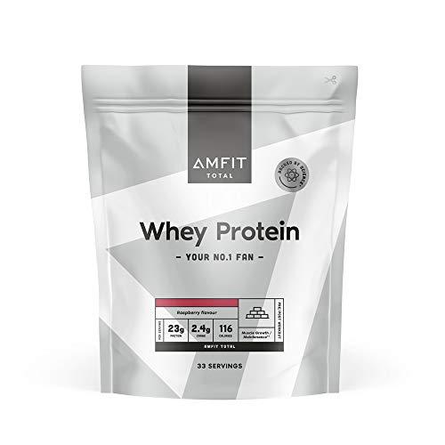 Marca Amazon - Amfit Nutrition Proteína de Suero Lácteo, Sabor Frambuesa, 1kg