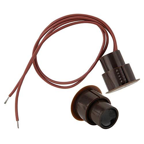 Sensor magnético de la seguridad del contacto de la ventana de la puerta de la alarma, tipo atado con alambre casero del NC detector de Reed del detector