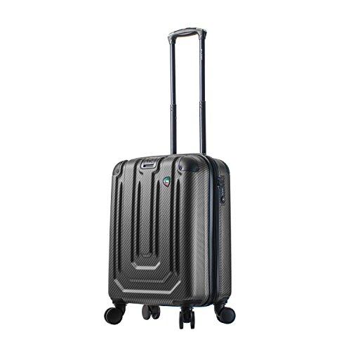 Mia Toro Italy Angolo Hardside Spinner Carry-on, Black, One Size