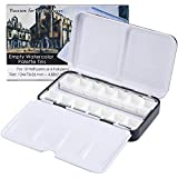 MyArTool Empty Watercolor Palette, Metal Empty Watercolor Tin Palette Paint Case with 12 PCS Empty Half Pans for DIY Travel Watercolor Palette, Acrylic and Oil Painting