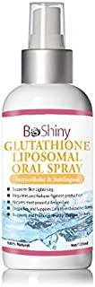 Glutathione Skin Whitening Spray - L-Glutathione AntiOxidant to Support Liver Health & Detox - 120 ml Advanced Cellular Sublingual Reduced Glutathione Includes Vitamin C and Alpha lipoic