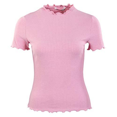 ONLY Damen ONLEMMA S/S Highneck TOP NOOS JRS T-Shirt, Soft Pink/Detail:Melange, M