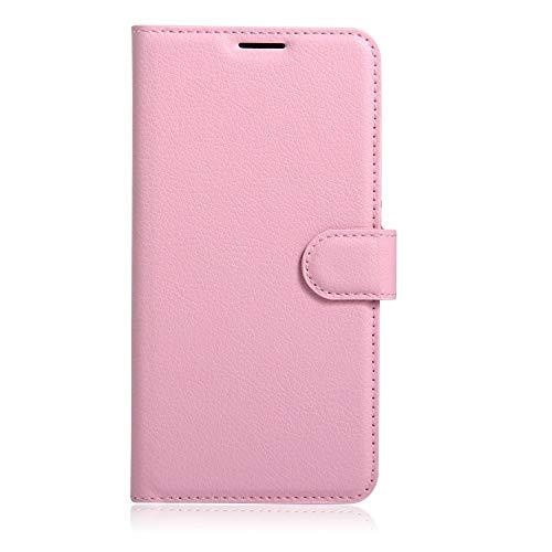 Sangrl Leder Lederhülle Schutzhülle Für LG K5, Wallet Tasche Für LG K5, mit Halterungsfunktion Kartenfächer Flip Hülle Rosa