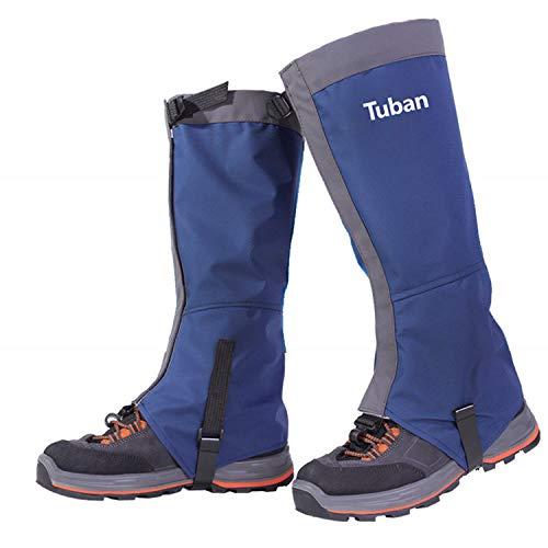 ege Leg Gaiters, Waterproof Snow Boot Gaiters Abrasion Resistance for Outdoor Snowshoeing, Hiking, Hunting, Ice Climbing, Skiing (Blue, Medium)