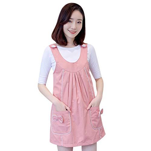 KINLOU Strahlenschutz Shied Kleidung Umstandskleid, Doppeltes rosafarbenes Kleid + MetallSchürze/XL