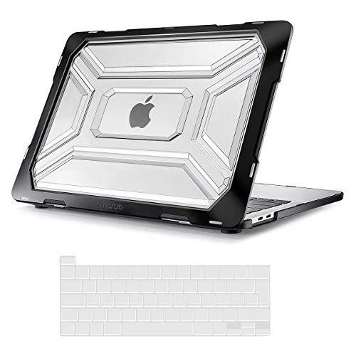 MOSISO Funda Dura Compatible con MacBook Pro 13 Pulgadas A2338 M1 A2289 A2251,Tarea Pesada Carcasa Protectora de Plástico Cubierta con TPU Parachoques&Cubierta de Teclado con Touch ID,Tran
