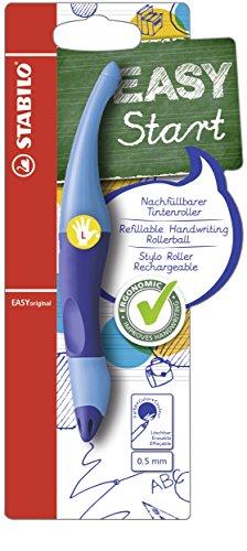 Ergonomischer Tintenroller für Linkshänder - STABILO EASYoriginal in dunkelblau/hellblau - Einzelstift -  Schreibfarbe blau (löschbar) - inklusive Patrone