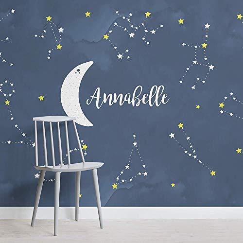 Personalisierte Sternbilder Kinderzimmer Platz Wandbilder Landschaft Tapete Dekoration Fresko Dekor 430×300cm