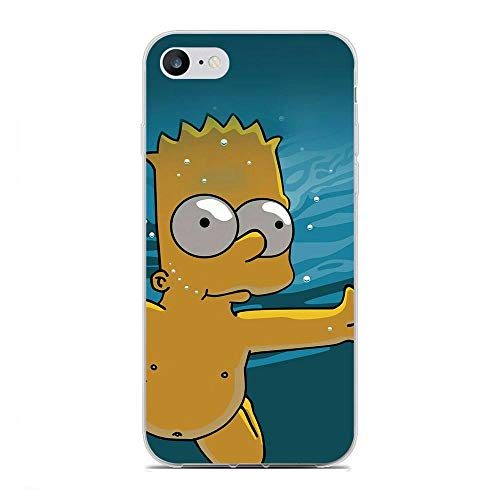 K-Kickim Case for Apple iPhone 6/6s-Simpsons-Funny Cartoon 10 Clear Phone Case Coque Silikon Rubber