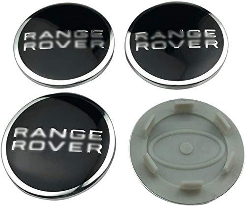 Cubierta de la insignia del eje del centro de la rueda del coche 4pcs, casquillo del eje de la rueda del logotipo de aluminio para La-nd Ro-ver Ran-ge Ro-ver Evoque Discovery-62mm