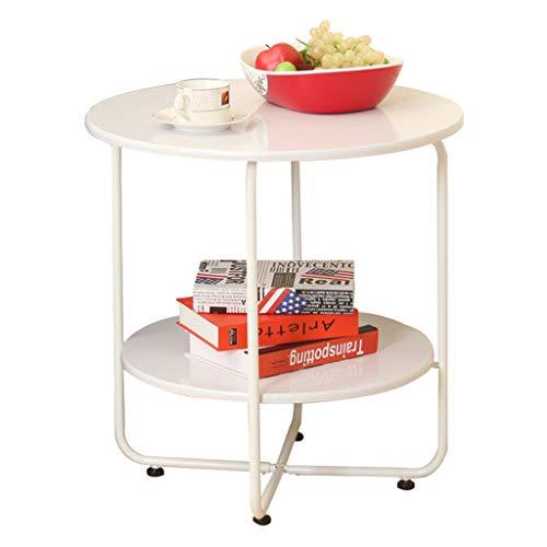 Table Basse Antidérapante Stockage Salon Canapé Table D'appoint Table Basse Table Basse Simple (Color : Blanc, Size : 45.5 * 45.5 * 45cm)