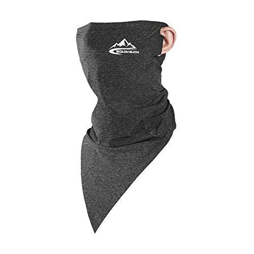 (エイエムエッチ)AMH ネックガード ネックカバー uv 冷感 スポーツ ランニング 釣り バイク メンズ レディース UPF50+ 紫外線対策 吸汗速乾 日焼け防止 耳かけ 夏 洗える (XT07_濃灰)