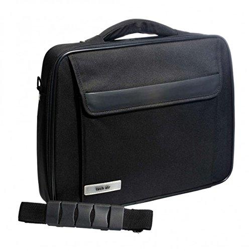 Techair TAN1103 Mallette classique noire 1 compartiment protection par coussins d'air 15,6\
