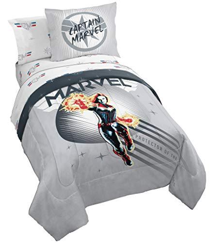 Jay Franco Captain Marvel Cool Energy Bed Set, Full