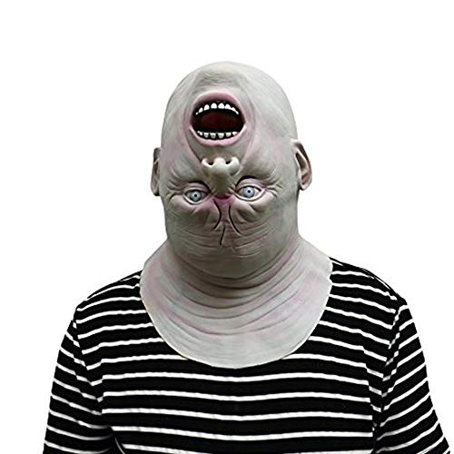 Maschera mostro a testa in giù - Perfetta per carnevale e Halloween - Costume adulto - Latex, Unisex Taglia unica