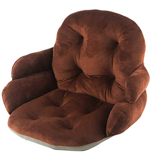 BDWY One-Piece anti-slip zitkussen onzichtbare rits Living Room 42X45CM Bruin