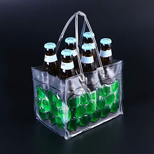 CHIPYHOME Chiypyhome Kühler, 6 Flaschen, 3 Flaschen, Erfrischungsgetränke, mit Kühlakku am Tisch und umgekehrt zu Hause Garten Camping Party Grill