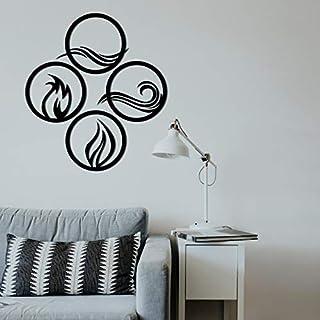 WALLCENTRE ART BEYOND IMAGINATION Mild Steel 4 Elements Round Shape Metal Wall Hanging Art Home Decor for Living Room, Bed...