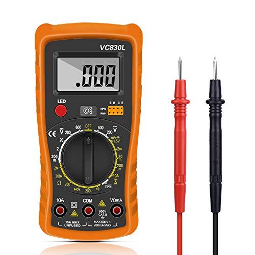 Digital Multimeter, Multimeter Messgeräte Digitales Voltmeter Amperemeter Ohmmeter, Multimeter Voltmeter Spannungsmesser Stromprüfer Widerstand Elektronisches Messgerät mit LCD-Anzeige (55)