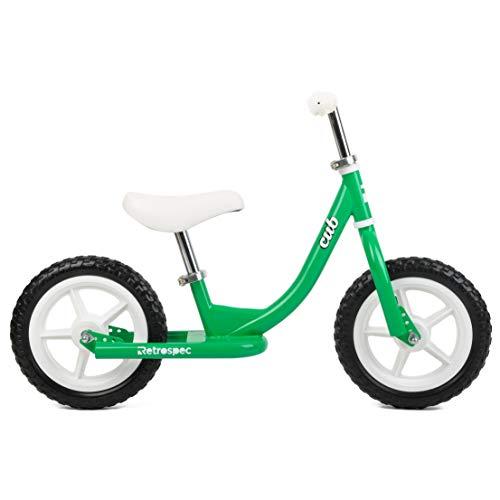 Retrospec Cub Kids Balance Bike No Pedal Bicycle, Kelly Green, OSFM