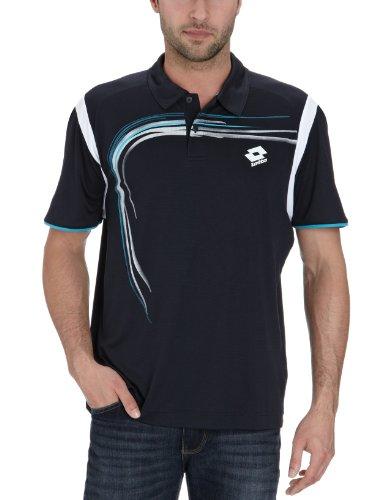 Lotto Sport Herren Polo Short Sleeve Trail, deep Navy/White, L, N5825