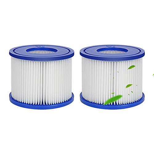 Ersatzfilter für Bestway Filterpatrone VI für Schwimmbad, Whirlpool, Miami, Vegas, Monaco, Palm Springs, 2 Filter