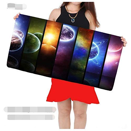 Mouse pad The Large Mouse Pad Rubber Base of The Planet Keyboard Pad Can Be Stably Gripped On A Smooth Surface - Non-Slip Gaming Mouse Pad Table Mat Computer mat