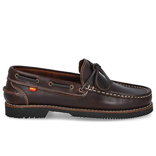 pequeño y compacto ESPIEL 24H 219 Zapatos Náuticos Tipo Apache-Para Cuero: Hombre Color: Marrón Talla: 44