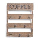 Coffee Wood & Metal Wall Hook Decor