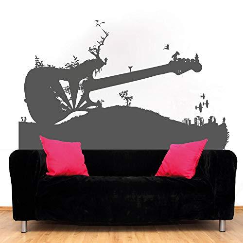 Vinilo adhesivo para pared de guitarra, guitarra eléctrica, decoración de guitarra, decoración...