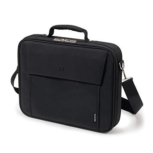Dicota Multi 15–17,3 Zoll BASE Umhängetasche für Laptop, Computer & Tablet, Leichtgewichtige Aufklappbare Clamshell-Laptoptasche, Schwarz