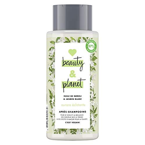 Love Beauty & Planet Après-Shampooing Femme, Huile de Néroli et Jasmin Blanc, Idéal pour les cheveux secs à ternes, Certifié Vegan, 97% d'ingrédients d'origine naturelle (Flacon de 400ml)