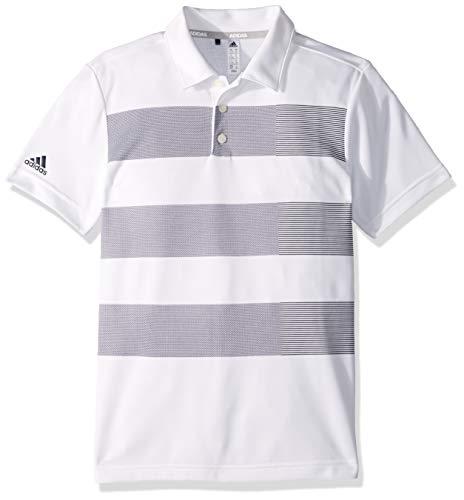 adidas Jungen 3-Stripe Polo, weiß, X-Small