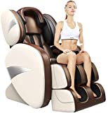 Massage Chair Yoga Stretching Zero Gravity Massage Chair,Full Body Shiatsu Massage Chairs Recliner with Tapping, Heating and Foot Roller Massager (a)