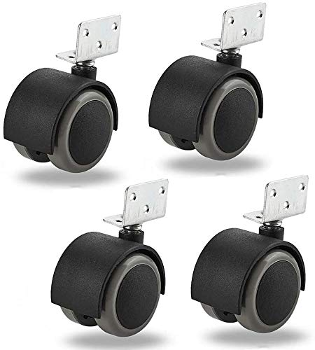 ruedas pivotantes para mueble 4 × 40 mm Rueda giratoria Rodamientos Rodamientos Banco de trabajo silencioso duradero L-soporte de muebles Rodamientos for silla de plantadores Andamio Capacidad de carg