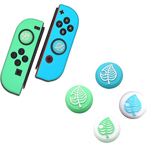 Switch Thumb Grips Analog Stick Cover Animal Crossing Theme, Joystick Cap para Nintendo Switch & Switch Lite (4PCS), Silicona suave para Joy-Con Controller (2PCS)
