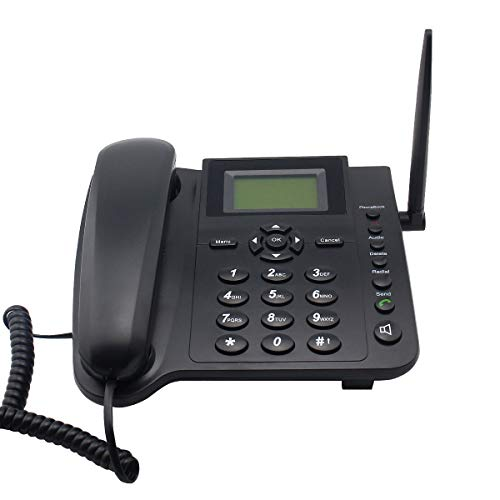 Sourcingbay M281 GSM Wireless Telephone for Home Office,Only Supprt Speedtalk GSM Sim Card with 2g Network,with SMS,Call Logs,Alarm,Phonebook,Redial,Fm Function